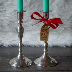 Pair of Vintage Silver Plated Candlestick Holders
